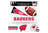 Wisconsin Badgers Removable Wall Decor 6pc Set Premium Decals