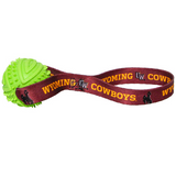 Wyoming Cowboys Dog Rubber Ball Tug Toss Toy