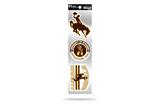 Wyoming Cowboys 3pc Retro Spirit Decals Premium Throwback Stickers