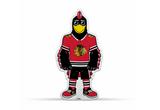 Chicago Blackhawks Mascot Pennant Fanion Premium Shape Cut Tommy Hawk