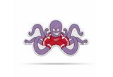 Detroit Red Wings Mascot Pennant Fanion Premium Shape Cut Al Octopus