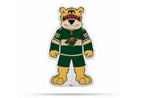 Minnesota Wild Mascot Pennant Fanion Premium Shape Cut Gordy