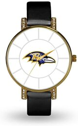Baltimore Ravens Women's Lunar Watch w/ Crystal Accents