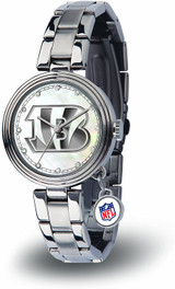 Cincinnati Bengals Women's Charm Watch Mother Of Pearl