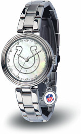 Indianapolis Colts Women's Charm Watch Mother Of Pearl