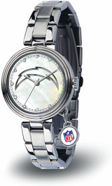 Los Angeles Chargers Women's Charm Watch Mother Of Pearl