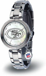 San Francisco 49ers Women's Charm Watch Mother Of Pearl