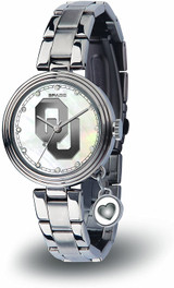 Oklahoma Sooners Women's Charm Watch Mother Of Pearl