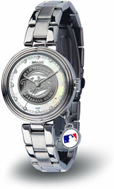Minnesota Twins Women's Charm Watch Mother Of Pearl
