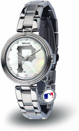 Pittsburgh Pirates Women's Charm Watch Mother Of Pearl