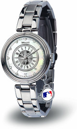 Seattle Mariners Women's Charm Watch Mother Of Pearl