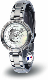Baltimore Orioles Women's Charm Watch Mother Of Pearl