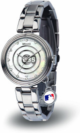 Chicago Cubs Women's Charm Watch Mother Of Pearl