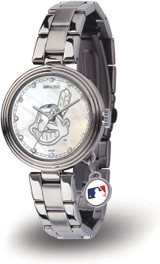 Cleveland Indians Women's Charm Watch Mother Of Pearl