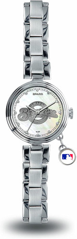 Milwaukee Brewers Women's Charm Watch Mother Of Pearl