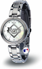 Tampa Bay Rays Women's Charm Watch Mother Of Pearl