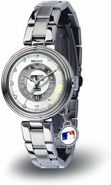 Texas Rangers Women's Charm Watch Mother Of Pearl