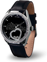 Mississippi Ole Miss Rebels Women's Beat Watch Floating Heart Crystals