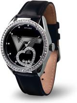 Virginia Tech Hokies Women's Beat Watch Floating Heart Crystals