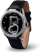 Pittsburgh Pirates Women's Beat Watch Floating Heart Crystals