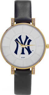 New York Yankees Women's Lunar Watch w/ Crystal Accents