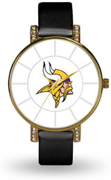 Minnesota Vikings Women's Lunar Watch w/ Crystal Accents