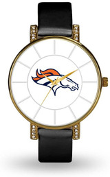 Denver Broncos Women's Lunar Watch w/ Crystal Accents