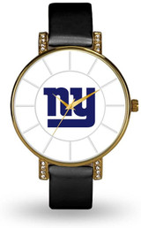 New York Giants Women's Lunar Watch w/ Crystal Accents