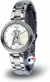 Los Angeles Angels Women's Charm Watch Mother Of Pearl