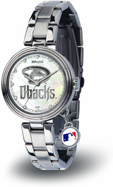 Arizona Diamondbacks Women's Charm Watch Mother Of Pearl
