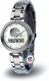 Cleveland Browns Women's Charm Watch Mother Of Pearl