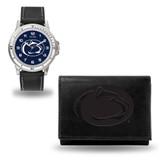 Penn State Nittany Lions Men's Black Watch & Wallet Set