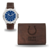 Indianapolis Colts Men's Brown Watch & Wallet Set