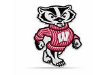 Wisconsin Badgers Mascot Pennant Premium Shape Cut Bucky