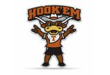 Texas Longhorns Mascot Pennant Premium Shape Cut Hook Em