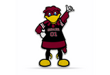 South Carolina Gamecocks Mascot Pennant Premium Shape Cut Cocky