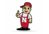 Nebraska Huskers Mascot Pennant Premium Shape Cut Herbie