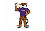 LSU Tigers Mascot Pennant Premium Shape Cut Mike
