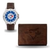 Toronto Blue Jays Men's Brown Watch & Wallet Set