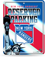 New  York Rangers Premium Metal Reserved Parking Sign