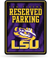 LSU Tigers Premium Metal Reserved Parking Sign