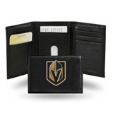 Vegas Golden Knights Men's Trifold Leather Wallet Premium Embroidered