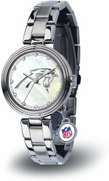 Carolina Panthers Women's Charm Watch Mother Of Pearl