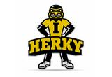 Iowa Hawkeyes Mascot Pennant Premium Shape Cut Herky