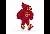 Iowa State Cyclones Mascot Pennant Premium Shape Cut Cy Cardinal