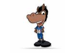 Boise State Broncos Mascot Pennant Premium Shape Cut Buster
