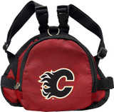 Calgary Flames Dog Cat Mini Backpack Harness w/ Leash