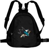 San Jose Sharks Dog Cat Mini Backpack Harness w/ Leash