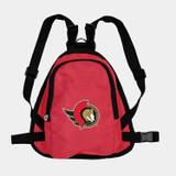Ottawa Senators Dog Cat Mini Backpack Harness w/ Leash