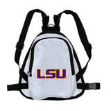 LSU Tigers Dog Cat Mini Backpack Harness w/ Leash